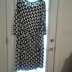 Black  and white Talbots dress